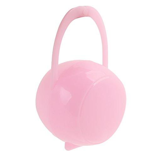Porte-Sucette Attaches-Sucette Portable Pour Bébé Boîte De Pacifier Protection Tétine Pour Bébé - Rose