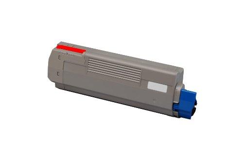 XXL Eurotone Laserdrucker Toner Kartuschen in Rot für Oki C610 CDN/ C610 DN/ C610 DTN/ C610 N - Premium Ware Magenta