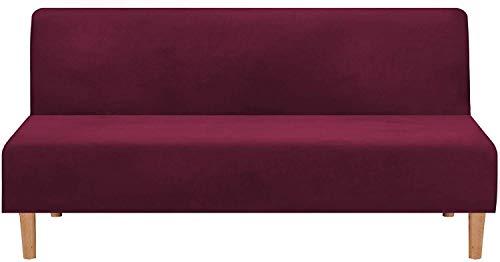 FSYGZJ Velvet Plush 1 Pieza Futon Funda para sofá Cama Funda elástica para sofá Funda sin Brazos Funda para sofá Protector de Muebles con Forma de Base elástica Resistente al Deslizamiento Lavable