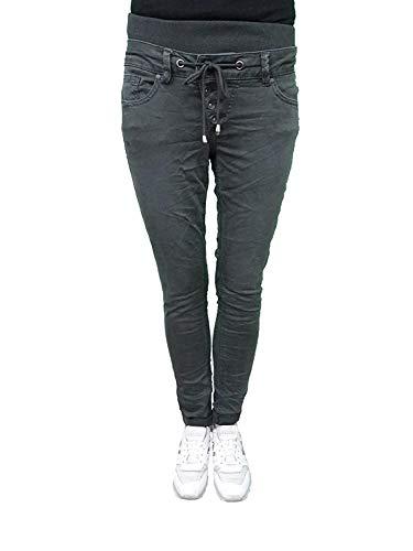 Buena Vista Malibu Slack 3/4 Sweat Jogg Pants Twill Hose (XS, Dark Grey)