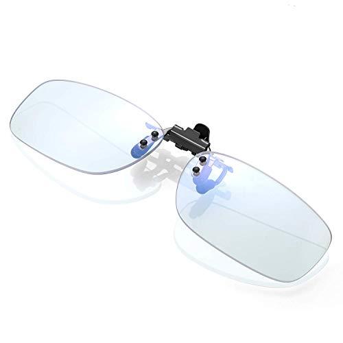 KLIM Protect OTG - Clip on Occhiali per Bloccare la Luce Blu + Alta Protezione per Schermo + Lenti Clip-on da Gaming per PC Telefono TV + Anti UV Anti Luce Blue + novità 2021