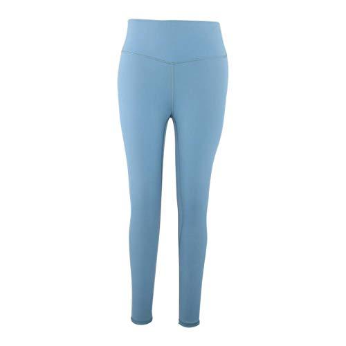 DAUERHAFT Malla elástica Pantalones de Yoga de Secado rápido de Alta Resistencia Mujer Resistente Pantalones de Yoga Fácil de Llevar(Gray Green)
