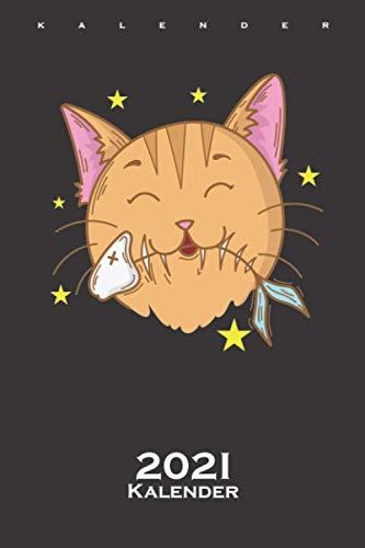 Katze liebt Fisch und Futter Kalender 2021: Jahreskalender für Katzen- und Tierfreunde