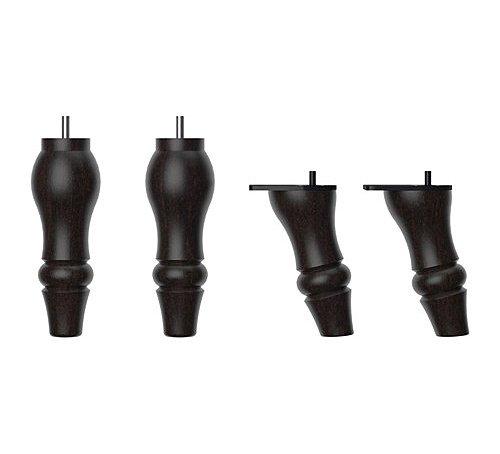 Ikea Stocksund mobili gambe per poltrona Chase divano legno di faggio e acciaio–nero–4pezzi