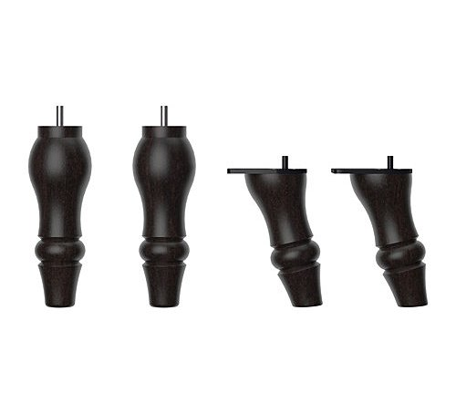 IKEA Stocksund Furniture Legs For Armchair / Chase / Sofa / Beech Wood and Steel - Black - 4 PACK
