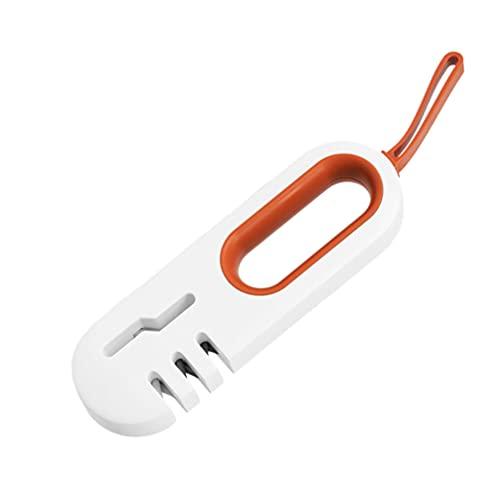 HEMOTON Afilador de Cocina- Afiladores de Cocina de La Mejor Elección- Afilador de Cuchillos (Anaranjado)