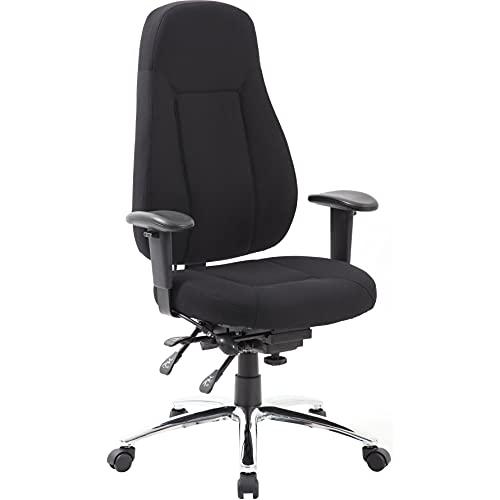 24-Stunden ergonomischer Bürostuhl   Beta   Schwarz