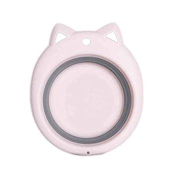 Fine Collapsible Dishpan,Washbasin Washing Basin Plastic Tub Laundry Basket Portable Space Saving Safety Multifunction Non-Toxic for Baby Wash  Pink