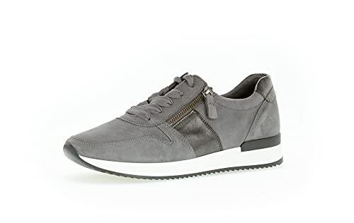 Gabor Damen Low-Top Sneaker, Frauen Halbschuhe,Wechselfußbett,Best Fitting,Laufschuhe,schnürschuhe,schnürer,Dark-Grey/anthr,40.5 EU / 7 UK