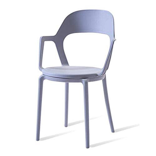 QTQZDD Stapelbare plastic stoel ontvangst, café, openbaar, eetkamer, kantoor, waterdichte tuinstoelen kruk (kleur: zwart) 4 4