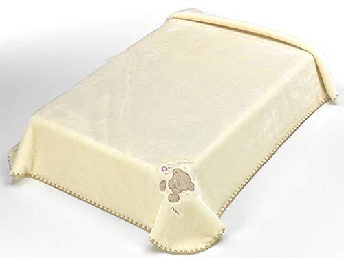 Textiles Mora Manta para Bebé Bordada Baby Luz Color D49 – Cuna 110X140Cm – Beig - Mantas, unisex
