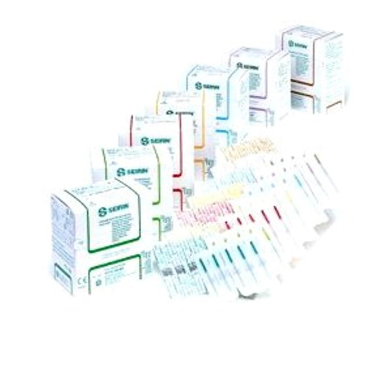 みピアニスト極端なセイリン鍼灸針Jタイプ 針長50mm 、スカイブルー(線径0.20mm)(プラスチック針管付)