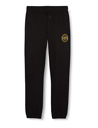 Vans Authentic Checker Fleece Pant FT Boys Pantalones Deportivos, Negro, 36-41 para Niños