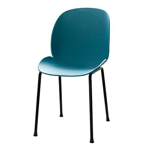 Lxn simplicité Moderne Chaise Design à Manger en Plastique, Pattes en métal, Chaises, Accueil Armless Salle à Manger, Cuisine, Chambre, Salon Chaises supplémentaires - 1PCS