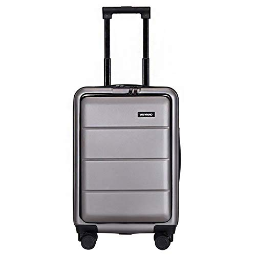 Adlereyire Trolley Suitcase Lightweight Durable Carry On Cabin Hand Luggage Set, Travel Bag with 4 Wheels (Color : Gray, Size : 35 * 25 * 55cm)