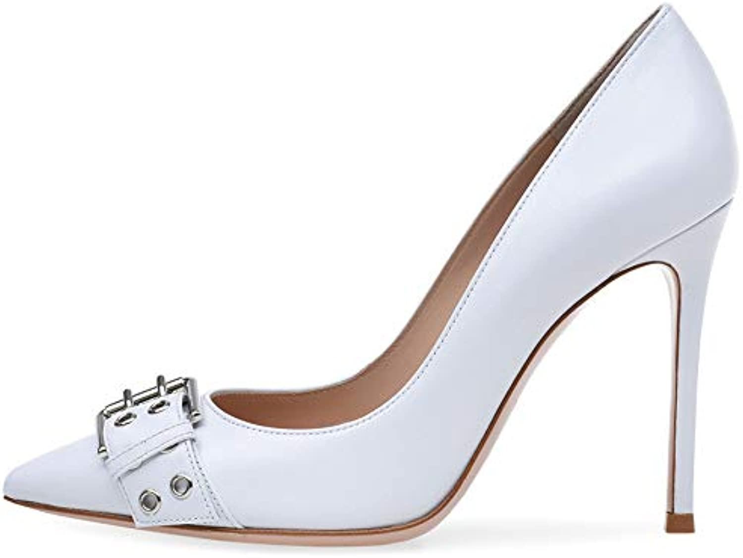 Women's high Heel Sandals, high Heel - PU Single shoes - White Wedding shoes - Stiletto Heels (high 11-13cm)
