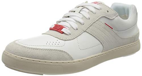 Fitflop Caleb Leather Sneakers, Zapatillas para Hombre, Urban White, 45 EU