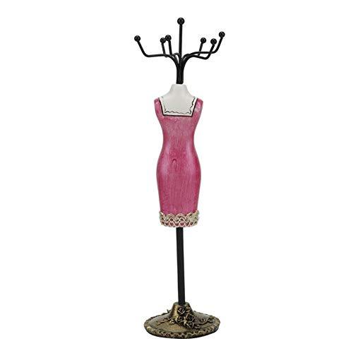 Estante de Pulsera, Collar de exhibición de joyería Envejecida Que se Muestra para Ventana para decoración de Dormitorio(Rose Red Cheongsam)
