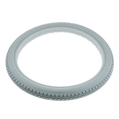 Neumáticos para silla de ruedas sólidas Resistente a los pinchazos de neumáticos, Rueda trasera universal Sin poliuretano inflación,Gris,22X1 3/8