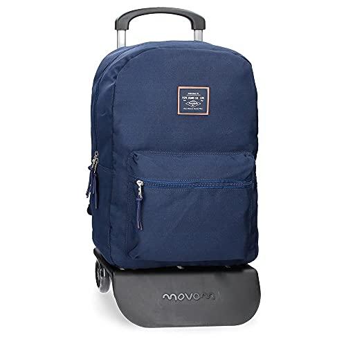 Pepe Jeans Cross Mochila con Carro Azul 32x44x15 cms Poliéster 21.12L