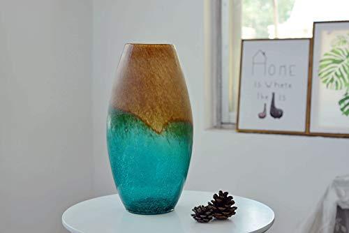 Gojooasis Flaschenvase, Kunst Glasfläschchen, Blumenvase mit Gradient, Super Simulations Riss Tischvasen, Dekoflaschen(14.5x17x31cm)