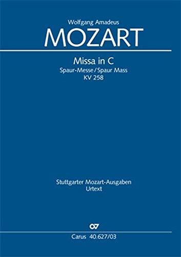 Missa in C (Klavierauszug): Spaur-Messe KV 258, 1775-1777 (?)