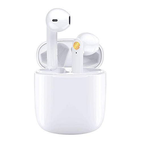 Wireless Earbuds Bluetooth 5.0 Headphones with Charging Case, 3D Stereo Air Pods in-Ear Ear Buds Built-in Mic, Compatible with iPhone/Android (AirBuds)