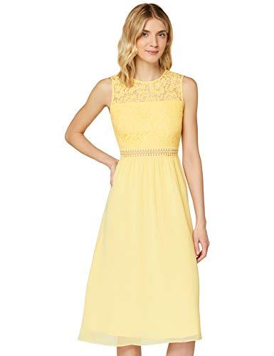 Amazon-Marke: TRUTH & Fable Damen brautkleid, Gelb (hellgelb), 38, Label:M