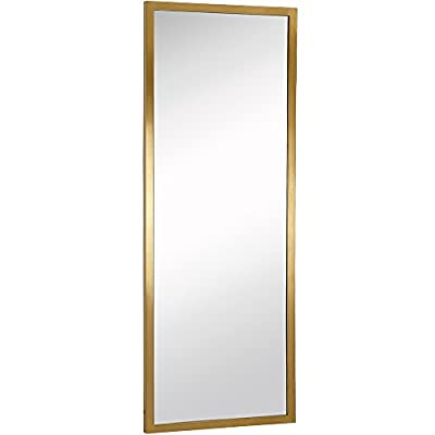 Commercial Restroom Rectangular Wall Mirror | Contemporary Industrial Strength | Brushed Metal Silver Rectangle Mirrored Glass | Vanity, Bedroom or Restroom Horizontal & Vertical