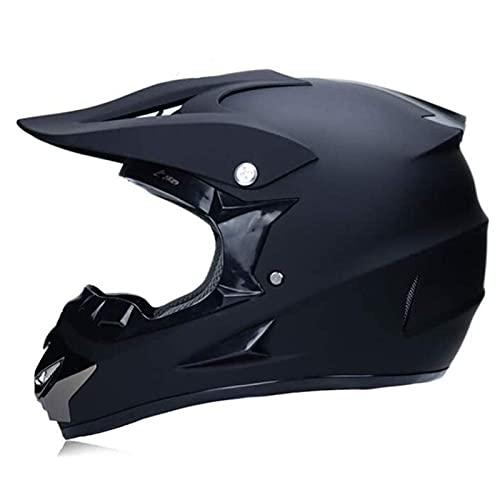 Casco da Motocross Adulto con Occhiali, Guanti, Caschi Integrali Sportivi Fuoristrada da Uomo per Bici BMX Downhill Dirt Bikes MTB ATV Moto Adolescenti Uomo Donna, 52~59 Cm
