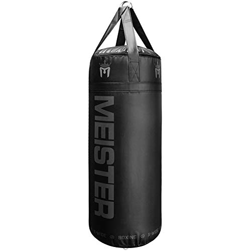 Meister 90lb Filled X-Wide Boxing Heavy Bag w/ Double-End Attachment - Black
