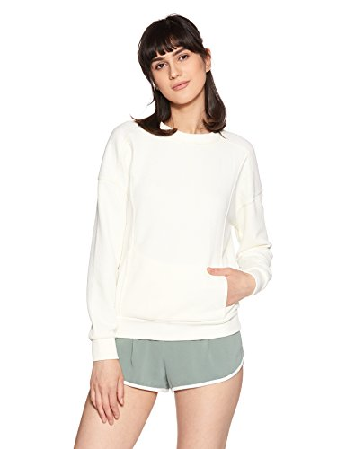 United Colors of Benetton Women's Sweatshirt (17A3TX1E1080I_Off-White_XS)