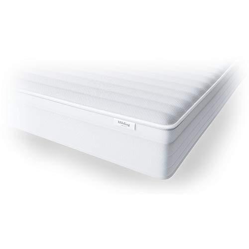 Hilding Sweden Essentials Air Komfortschaummatratze / mittelfeste Matratze mit orthopädischem 7-Zonen-Schnitt für alle Schlaftypen (H2-H3) / 100 x 200 cm