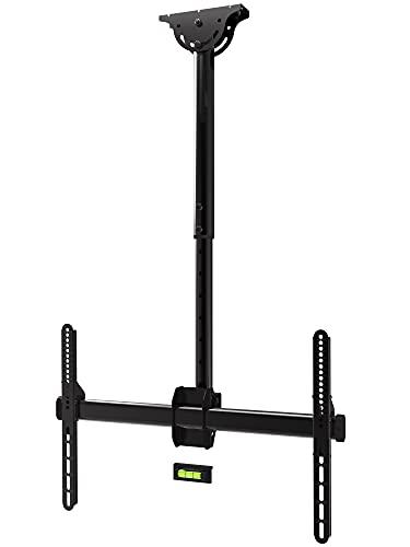 Promounts Ceiling TV Mount, 360° Swivel and Tilt Flat Sloped Hanging Full Motion TV Bracket for 37 55 60 65 75 70 80 Inch LCD LED OLED Plasma Curved Flat Screen 110lbs, Max VESA 600x400mm (UC-PRO310)