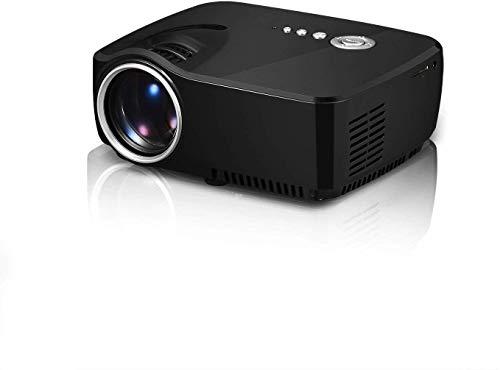 ZGYQGOO GP70 Proyector LED 1200 lúmenes 800480 Multimedia Beamer Mini Portable 1080P Videojuegos Proyectores (Negro)