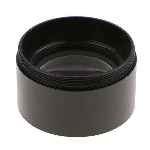 Baosity 1.5X Barlow Auxiliary Objective Lens Optical Glass for Stero Microscope - 48mm Mounting Thread W.D 45mm (Black,Pack of 1)