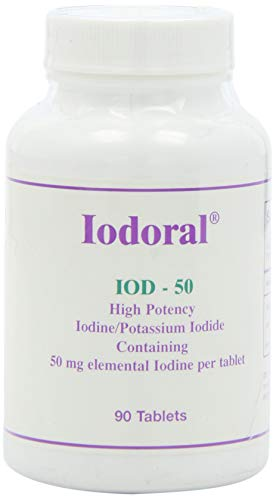 Optimox - Iodoral IOD-50, High Potency Thyroid Support with Iodine, Iodide, and Potassium, 90 Tablets