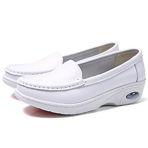 UELEGANS Zapatos Mujer Trabajo Enfermero Deportivas Correr Gimnasio Casual Zapatos para Running Transpirable Aumentar Más Altos Sneakers, 33-41,34
