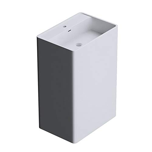 doporro BTH: 42x50x90cm Design Standwaschbecken Colossum34, aus Gussmarmor, Waschtisch, Waschplatz