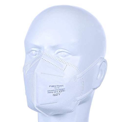FFP2 Atemschutzmaske – Schachtel à 10 Stück CE-Zertifiziert mit verstellbarem Gummiband und anpassbarem Nasenbügel| 5 Filtrationsschichten, Schützt drinnen und draußen |QZY| - 7