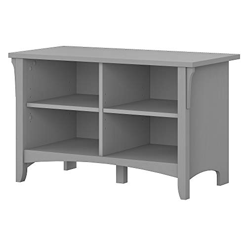 Bush Furniture Salinas Shoe Storage Bench in Cape Cod Gray
