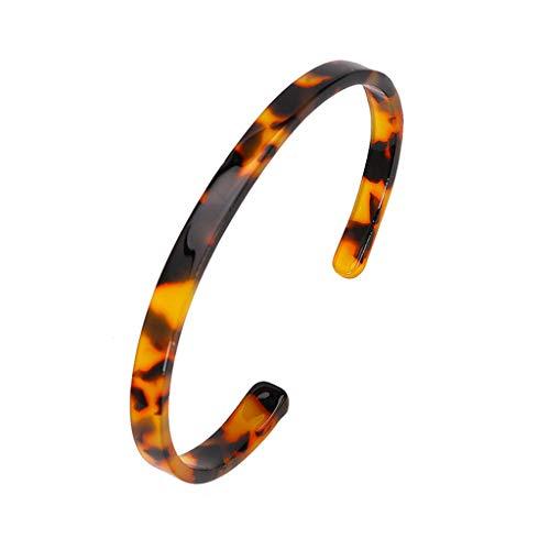 XIANZI Frauen Armbänder Acrylplatte Offenes Armband Einfach Schmal Schwarz Weiß Marmor Stil Schmuck