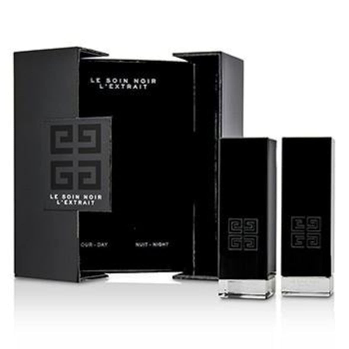 郵便観客アークジバンシィ Le Soin Noir L'Extrait: L'Extrait Day Serum 15ml/0.5oz + L'Extrait Night Serum 15ml/0.5oz 2pcs並行輸入品