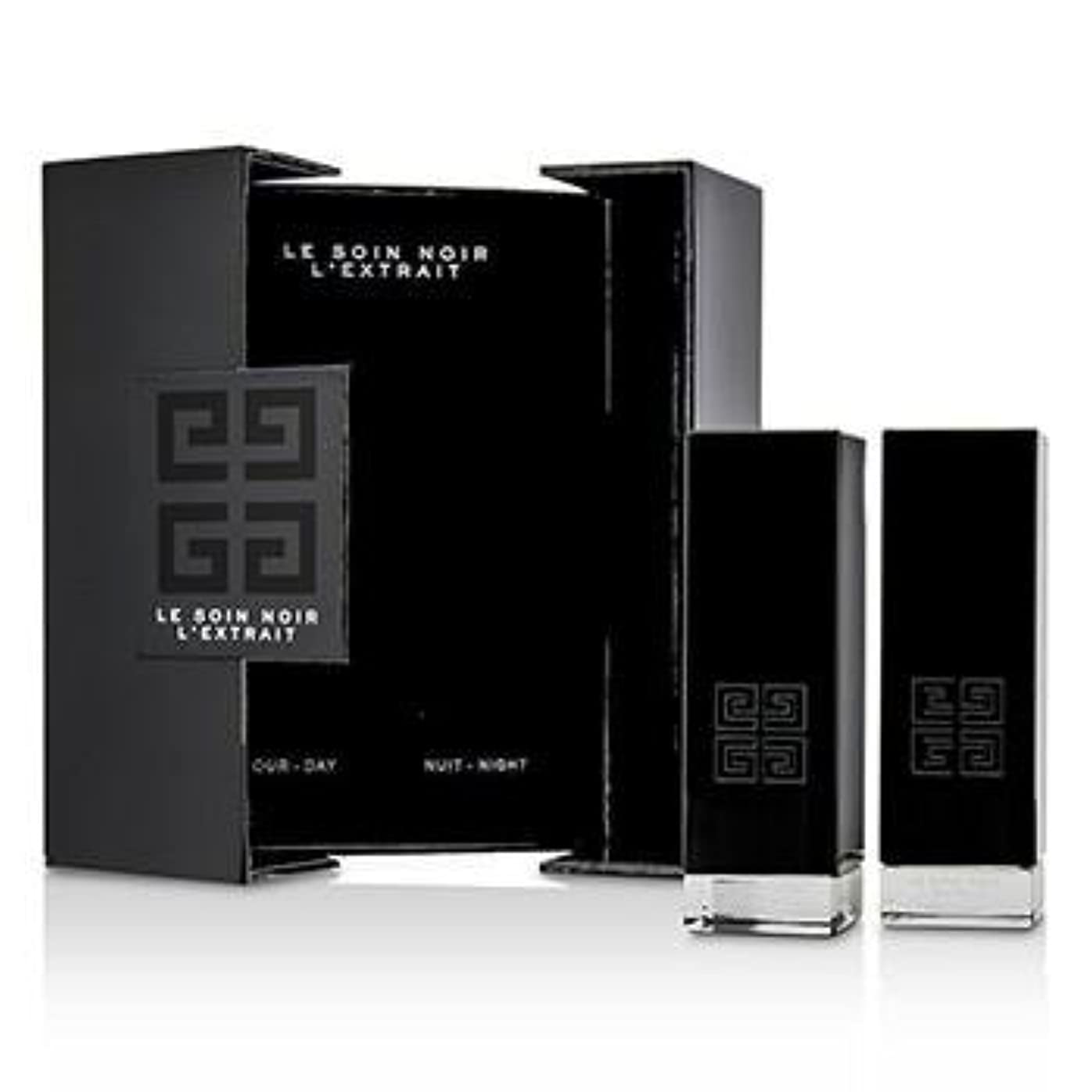 多用途発行するシードジバンシィ Le Soin Noir L'Extrait: L'Extrait Day Serum 15ml/0.5oz + L'Extrait Night Serum 15ml/0.5oz 2pcs並行輸入品