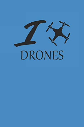 I DRONES: DROHNEN NOTIZBUCH Drones Notebook Drone Bullet Journal 6x9 Punkteraster