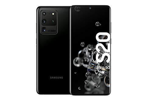 Samsung Galaxy S20 Ultra 5G - 128 GB de memoria, 12 GB RAM, Sim Hibrida, Negro [Versión Alemana]