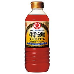 ヒガシマル醤油 特選丸大豆うすくちしょうゆ 500mlペットボトル×12本入