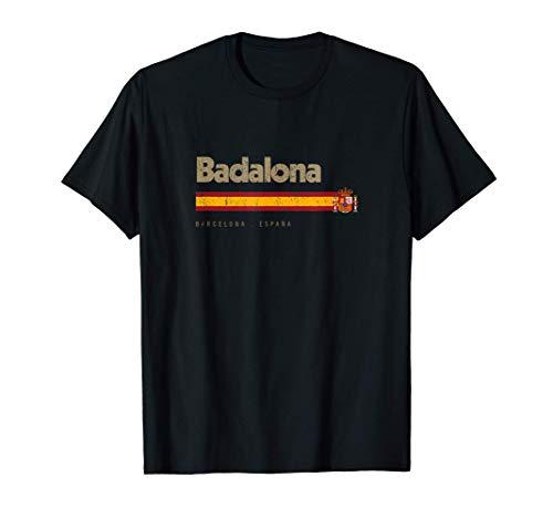 Badalona Ciudad Española Vintage Bandera España Camiseta