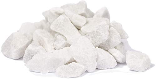 HEKU 30336-01: Piedras Decorativas Blancas, 750 g, en Lata resellable.