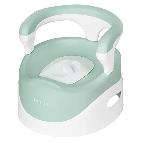 HEETA Potty Chair for Boys Girls Kids Toddler, Non Slip Potty Training Toilet with Lid and Removable Container, Easy Clean (Green)